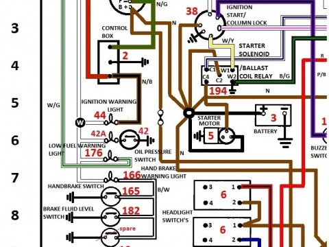 wiring schematics colour coded for jaguar   triumph shannons club Ford Wiper Motor Diagram Ford Wiper Motor Wiring Color