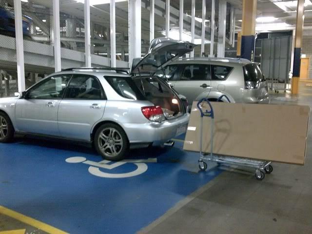 2003 Subaru WRX Shopping trolley