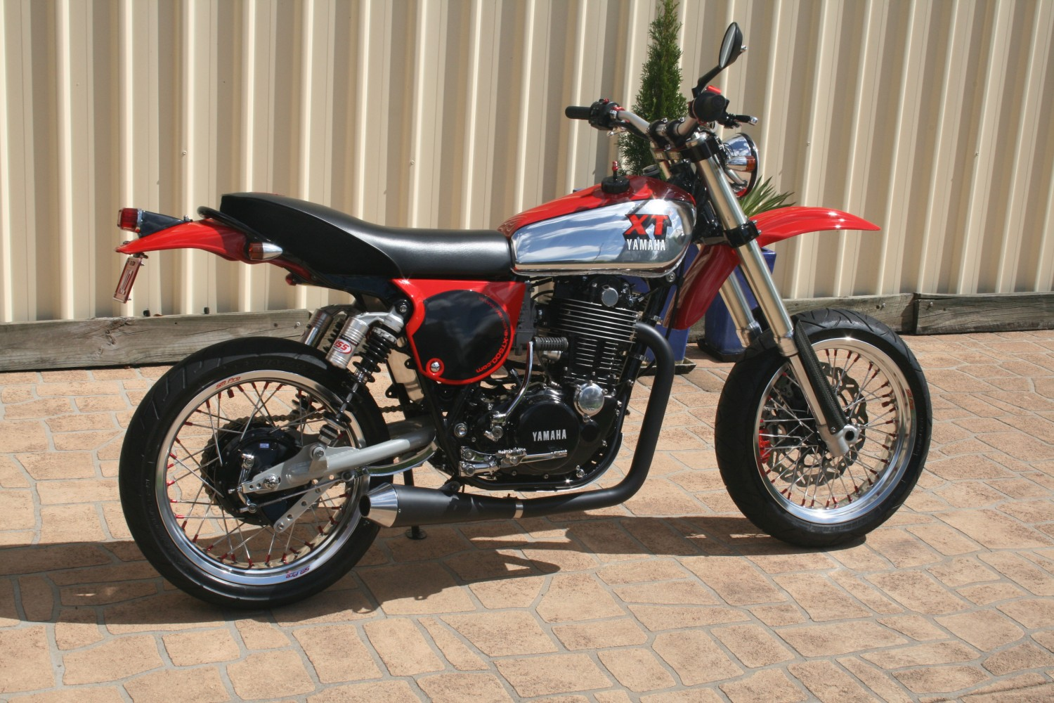 yamaha xt500 1977 xt custom 2928 supermotard shannons featured thumper another sweet visitar sr motorcycle tag