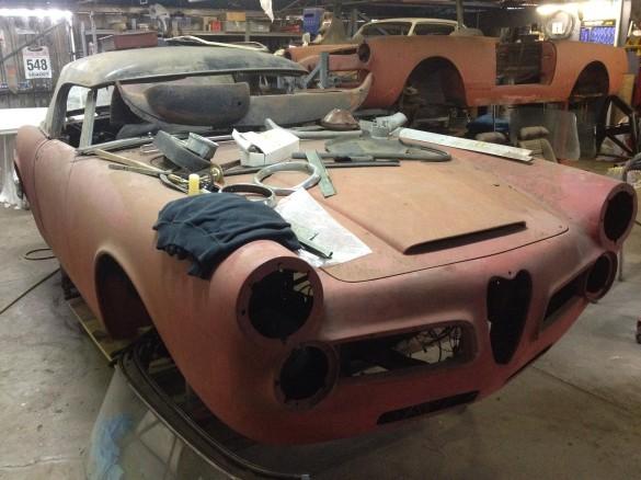 1962 Alfa Romeo 2600 Spider Unclewheels Shannons Club