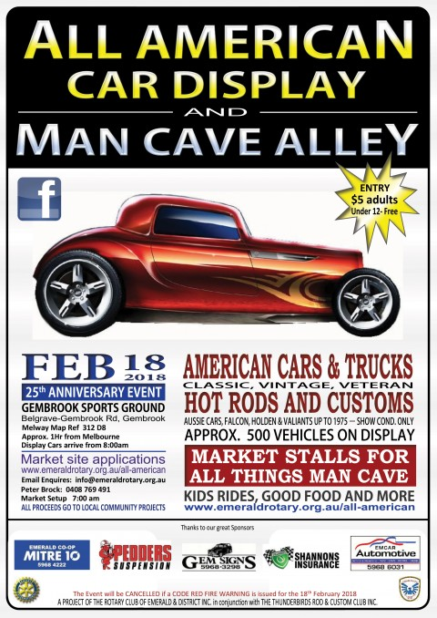 All American Car Display Man Cave Alley Shannons Club - Car show display signs