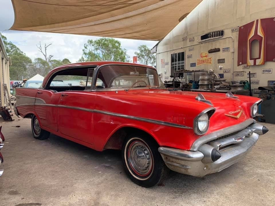 1957 Chevrolet Belair 4 door Pilarless