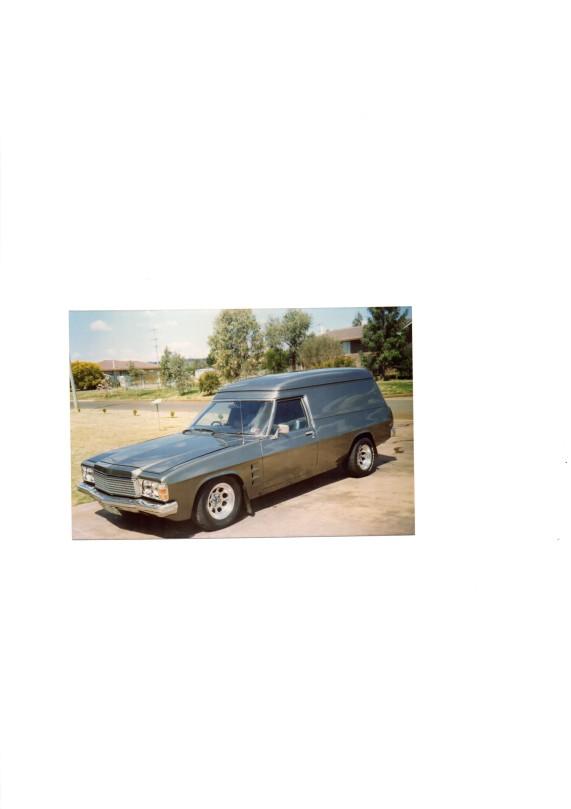 1978 Holden Sandman HZ Panel Van