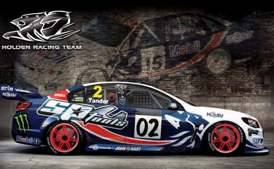 The Holden Racing Team are paying tribute to racing legend Peter Brock in Townsville.