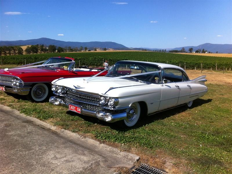 1959 Cadillac Coupe Deville Four door White