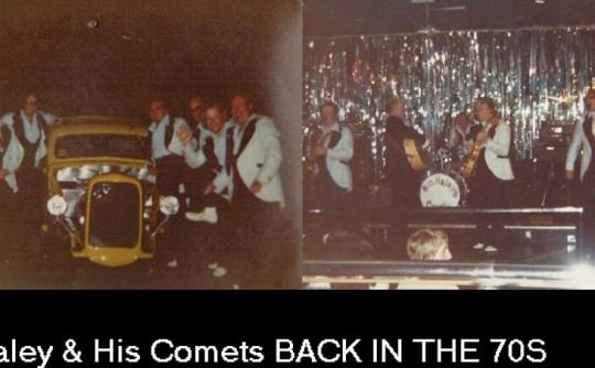 Bill Haley and the Comets at a club back in the 70's with my first build 1937 ford