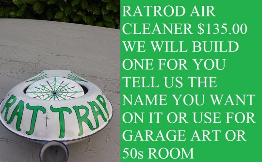rat rod air cleaners we build $135.00 plus shipping