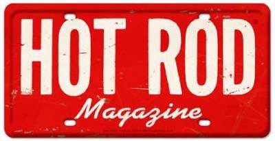 HOT ROD Magazine License Plate