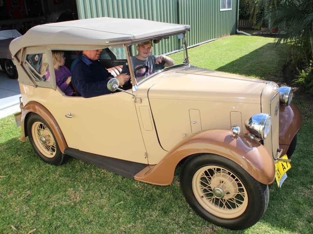 1937 Austin ruby