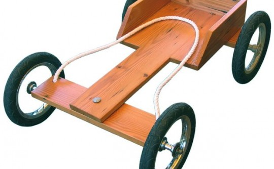 My first car: a billy cart!