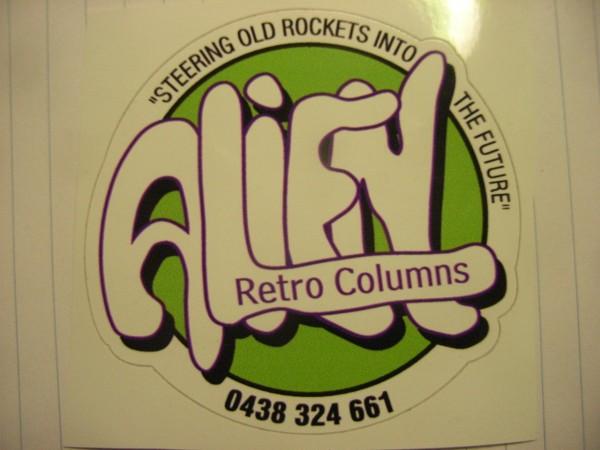 Alien Retro Columns Logo